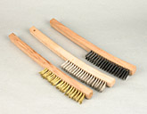 wire scratch brush curved handle